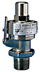 Kunkle Model 2 Brass Safety Valve 1""