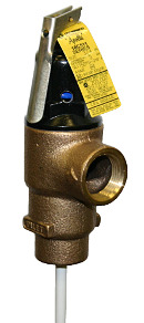 "Apollo 1"" x 8"" FEMALE Bronze Temperature & Pressure Relief Valve"
