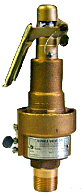 "Kunkle Model 6182 Steam Safety Relief Valve ¾"" x Top Outlet"