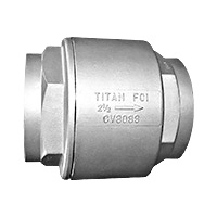 "Titan CV 80-SS 1"" Stainless Threaded Silent Check Valve"
